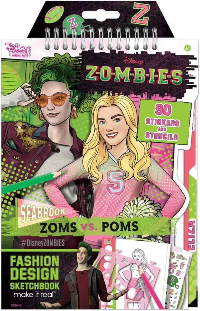 Make It Real - Disney Zombies Fashion Design Sketchbook. Disney Inspired  Fashion Design Coloring Book for Girls. Includes Addison and Bree Sketch