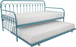 Novogratz Bright Pop Daybed with Trundle | Twin Size Frame in Teal color