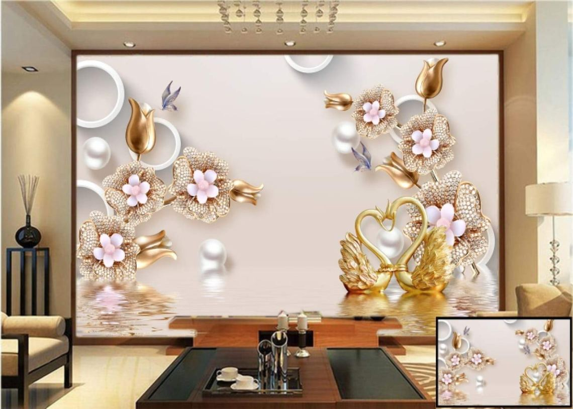 Kayra Decor Customize 3d Wallpaper Print Decal Deco Indoor Wall Mural For Living Room Bedroom 5 Height X 7 Width Feet Amazon In Home Improvement