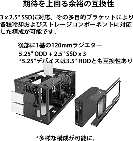 SilverStone SST-SG14B 5.25インチ光学ドライブ