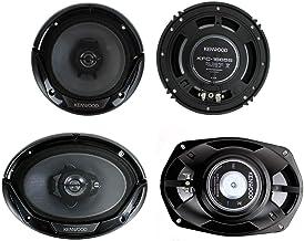 """Kenwood KFC-1665S + KFC-6965S 6.5"""" 300W 2-Way Plus (2) 6×9 400W 3-Way Car Speakers"""