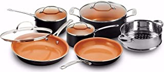 Gotham Steel Pots and Pans 10 Piece Cookware Set with Nonstick Ceramic Coating by Chef..