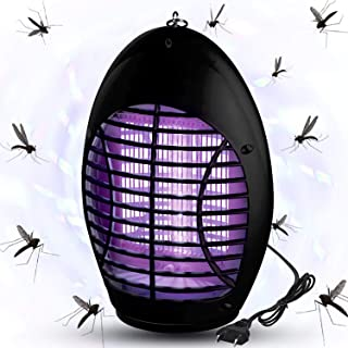 QUTOP Electric Bug Mosquito Killer with Insect Zapper Outdoor/Indoor Hook, 02-Black