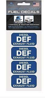 """DEF: Diesel Exhaust Fluid"" Stickers | 2""x1"" | 4-Pack | Weather.."