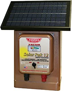Parmak Magnum Solar-Pak 12 Low Impedance 12 Volt Battery Operated 30 Mile Range Electric..
