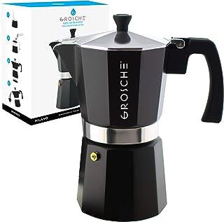 GROSCHE Milano Stovetop Espresso Maker Moka pot 12 espresso Cup – 23.6 fl oz,..