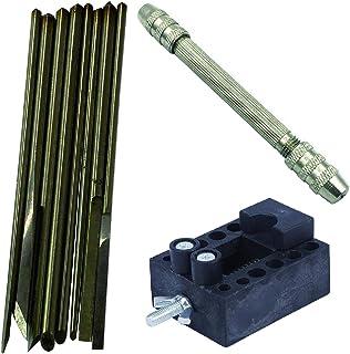 Felimoa 金属彫刻刀 金属製ハンドル 彫刻刀 高機能 先端部 取り替え式 (10点セット)