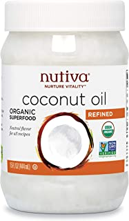 Nutiva Organic, Steam Refined Coconut Oil from non-GMO, Sustainably Farmed Coconuts, 15..