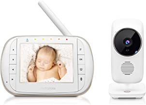 """Motorola Baby Smart Video Baby Monitor with Wi-Fi & 3.5"""" Color LCD Parent Unit,.."""