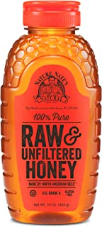 Nature Nate's 100% Pure Raw & Unfiltered Honey; 16-oz. Squeeze Bottle; Gluten Free..