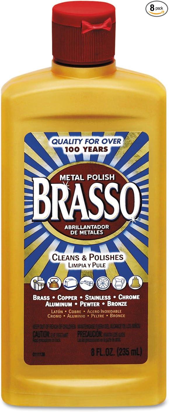Brasso Metal Polish, 23 oz Bottle for Brass, Copper, Stainless, Chrome,  Aluminum, Pewter & Bronze (Pack of 23)
