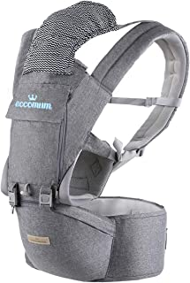 Baby Carrier, Eccomum Multifunction Baby Carrier Hip Seat (Ergonomic M Position) for 3-36..