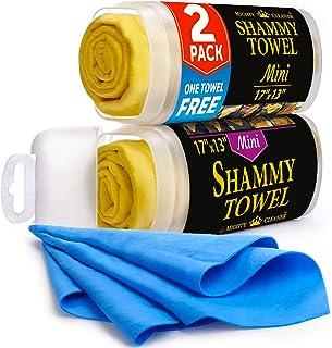 Premium Chamois Cloth for Car – 2 Pack – Mini Car Shammy Towel (17 x 13..