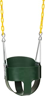 Eastern Jungle Gym Heavy-Duty High Back Full Bucket Toddler Swing Seat with Coated Swing..