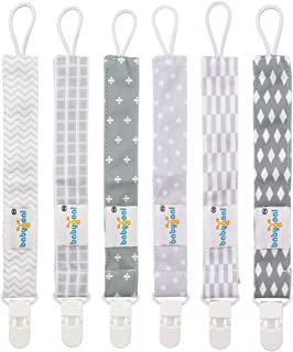 Babygoal Pacifier Clips for Boys, 6 Pack Pacifier Holder Fits Most Pacifier Styles..