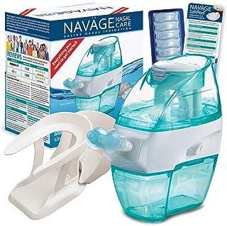 Navage Nasal Hygiene Essentials Bundle: Navage Nose Cleaner, 40 SaltPod Capsules, and..