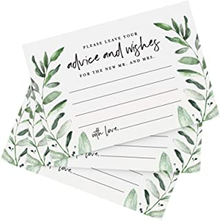Bliss Collections Greenery Advice and Wishes Cards for The Bride and Groom, Perfect for:..