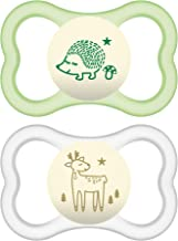 MAM Air Night Pacifiers (2 pack), MAM Sensitive Skin Pacifier 6+ Months, Glow in the Dark..