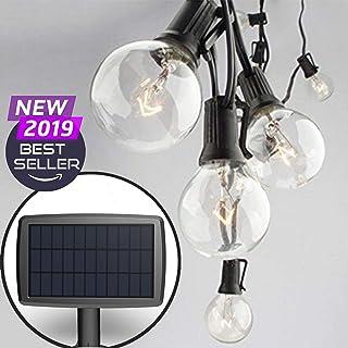 Sunlitec Solar String Lights Waterproof LED Indoor/Outdoor Hanging Umbrella Lights with..