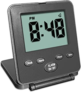 Digital Travel Alarm Clock – No Bells, No Whistles, Simple Basic Operation, Loud..