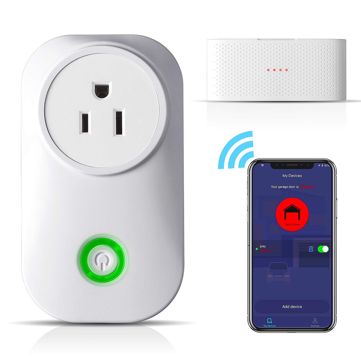 Smart Wifi Garage Door Opener Wireless Amp Wifi Remote