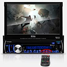 BOSS Audio Systems BV9986BI Car DVD Player – Single Din, 7 Inch Digital LCD,..