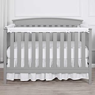 TILLYOU 3-Piece Padded Baby Crib Rail Cover Protector Set from Chewing, Safe Teething..