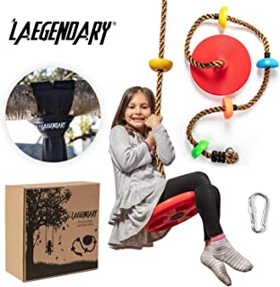 Climbing Rope Tree Swing with Platforms and Disc Swings Seat – Playground Swingset..