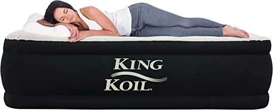 King Koil Queen Air Mattress with Built-in Pump – Best Inflatable Airbed Queen Size..