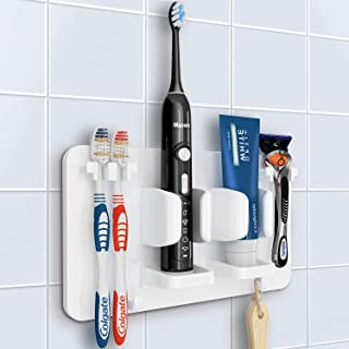 Mspan Toothbrush Razor Holder for Shower: Bathroom Accessories Organizer Wall Mounted..