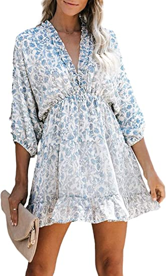 light blue floral silk dress beautiful dresses