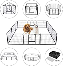 VIVOHOME Heavy Duty Foldable Metal Indoor Outdoor Exercise Pet Fence Barrier Playpen..
