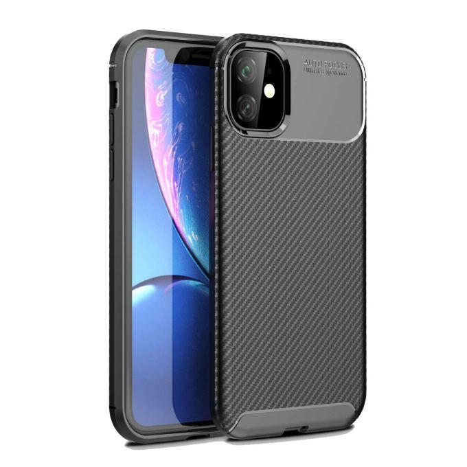 Olixar for iPhone 11R Carbon Fiber Case - Slim TPU Cover