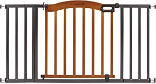 Summer Decorative Wood & Metal Safety Baby Gate, New Zealand Pine Wood and a Slate..