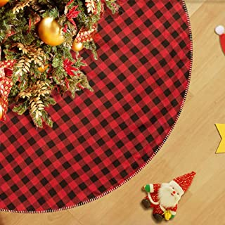 """CELIVESGG 48"""" Christmas Tree Skirt Tree Skirt Double Layers a Fine Decorative.."""