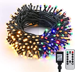 Brizled Christmas Lights, 65.67ft 200 LED Color Changing Tree Lights 9-Function Warm..