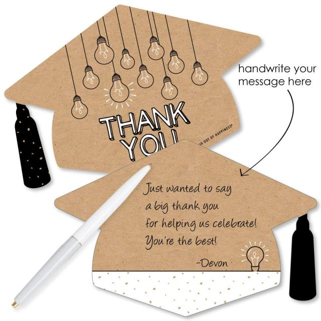 Big Dot of Happiness Bright Future - Shaped Thank You Cards