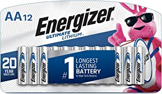 Energizer AA Lithium Batteries, World's Longest Lasting Double A Battery, Ultimate..