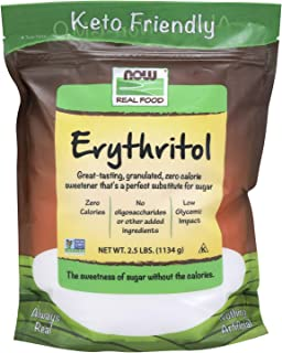 NOW Foods, Erythritol, Great-Tasting Substitute for Sugar, Zero Calories, Low Glycemic..