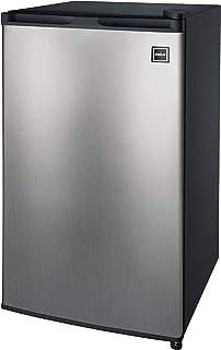 RCA RFR322-B 3.2 Cu Ft Single Door Mini Fridge with Freezer RFR322, Platinum, Stainless