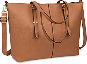 Laptop Tote Bag for Women 15.6 Inch Waterproof Lightweight Leather Computer Laptop Bag..