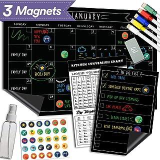 Magnetic Dry Erase Chalkboard Calendar – 11×17 Inches – Large Premium..