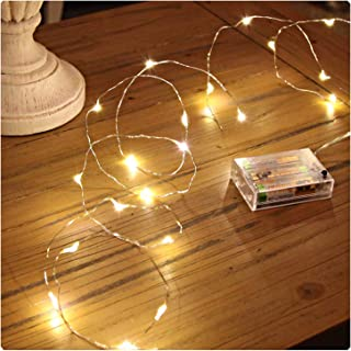 Sanniu Led String Lights, Mini Battery Powered Copper Wire Starry Fairy Lights, Battery..