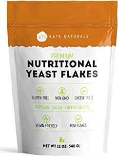 Sponsored Ad - Premium Nutritional Yeast Flakes - Kate Naturals. Delicious Fortified Nooch for Vegans. Perfect for Mac & C...