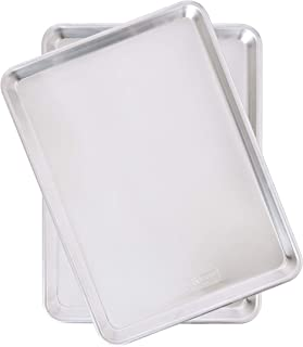 Nordic Ware Natural Aluminum Commercial Baker's Half Sheet (2 Pack), Silver