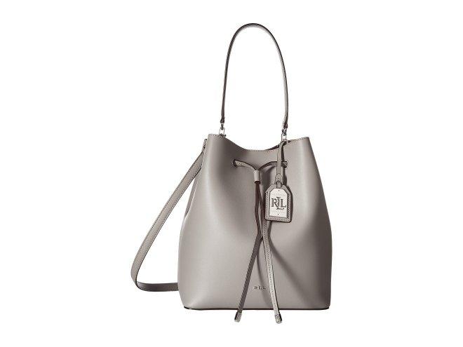 LAUREN Ralph Lauren - Dryden Debby Drawstring (Light Grey/Palomino) Drawstring Handbags