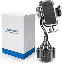 [Upgraded] TOPGO Cup Holder Phone Mount Universal Adjustable Gooseneck Cup Holder Cradle..