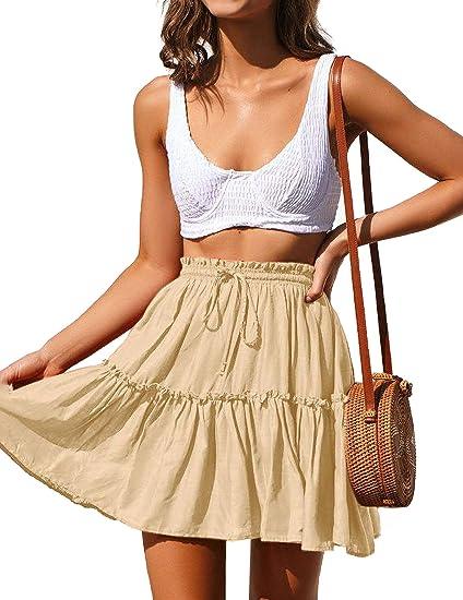beige short cute skirt