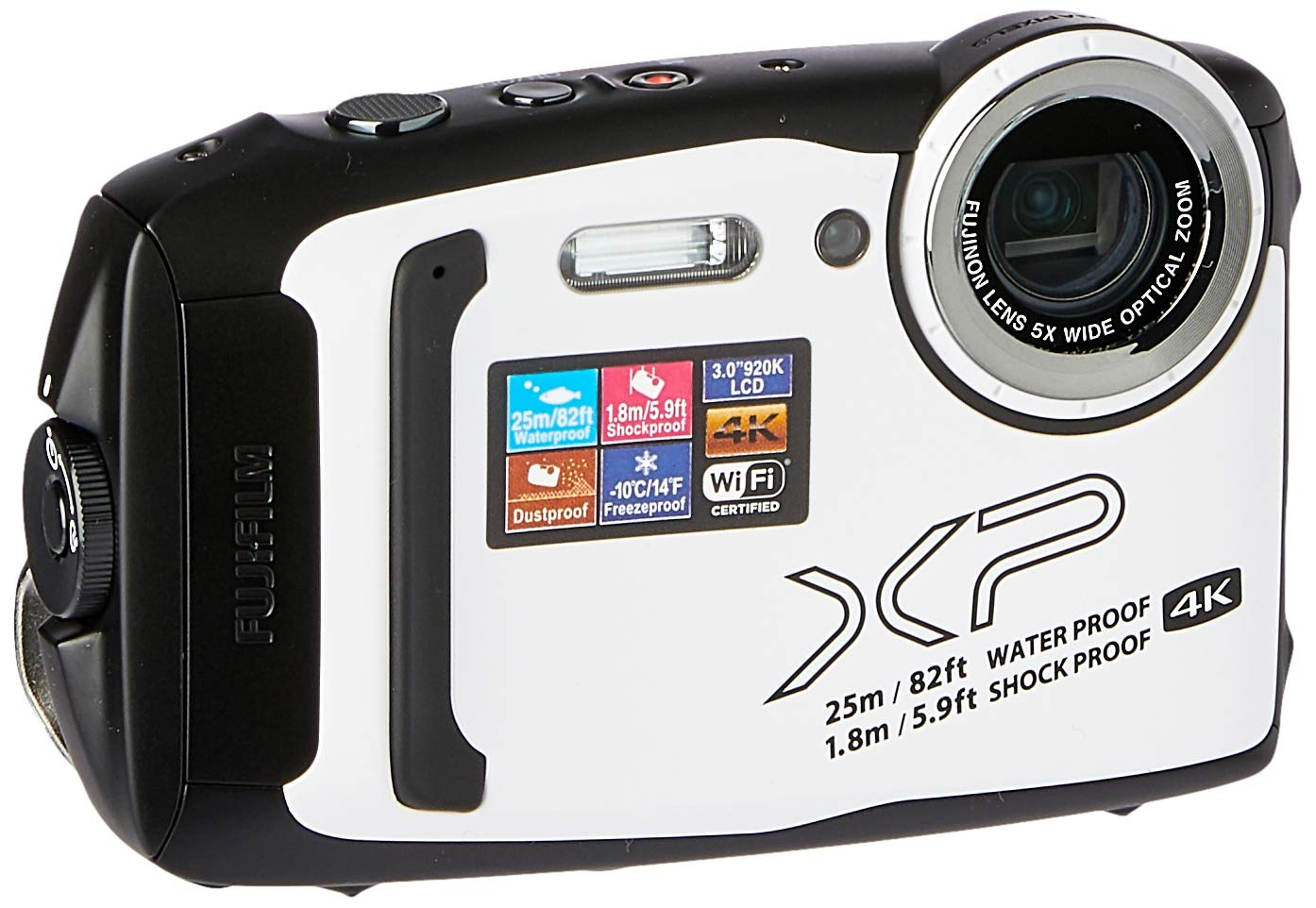 Fujifilm FinePix XP140 Waterproof Digital Camera-White: Buy Online at Best  Price in UAE - Amazon.ae