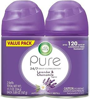 Air Wick Pure Freshmatic 2 Refills Automatic Spray, Lavender & Chamomile,Air..